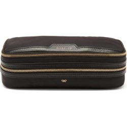 Anya Hindmarch - Make-up Zipped Recycled-fibre Pouch - Womens - Black found on MODAPINS from MATCHESFASHION.COM - AU for USD $340.34