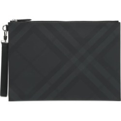 Burberry - London-check Coated-canvas Pouch - Mens - Dark Grey found on Bargain Bro UK from Matches UK