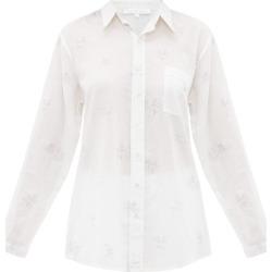 Pour Les Femmes - Chemise de pyjama en coton à imprimé palmiers