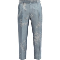 Bed J.W. Ford - Pantalon en chambray à jacquard fleuri found on MODAPINS from matchesfashion.com fr for USD $586.30