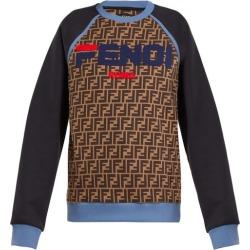 Fendi - Sweat-shirt en coton à imprimé logo Mania