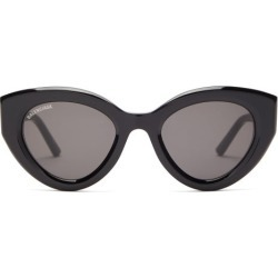 Balenciaga - Cat-eye Acetate Sunglasses - Womens - Black Grey found on Bargain Bro India from Matches Global for $350.00
