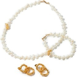 Alighieri - Pearl Earrings, Necklace And Bracelet - Womens - Gold found on MODAPINS from Matches Global for USD $685.00