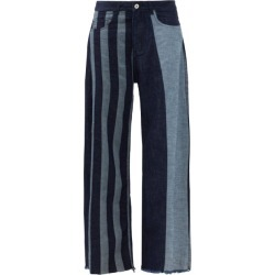 Marques'almeida - Patchwork Striped Wide-leg Jeans - Womens - Denim found on MODAPINS from Matches UK for USD $331.24