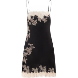 Carine Gilson - Square-neck Lace-trimmed Silk Short Slip Dress - Womens - Black found on MODAPINS from Matches Global for USD $1164.00