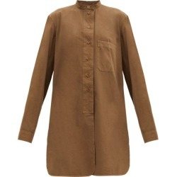 Lemaire - Elongated Cotton Overshirt - Womens - Dark Khaki found on MODAPINS from Matches UK for USD $491.38