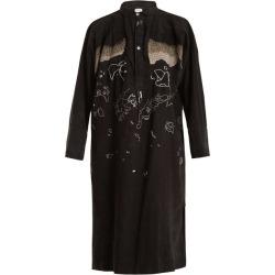 Kilometre Paris - Tavan Tolgoï Embroidered Linen Shirtdress - Womens - Black found on Bargain Bro Philippines from Matches Global for $814.00
