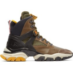 Moncler - Tristan Leather And Mesh Hiking Trainer - Mens - Brown Multi found on Bargain Bro UK from Matches UK