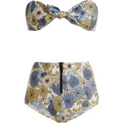 Lisa Marie Fernandez - Poppy Floral-print Tie Bikini - Womens - Cream Multi found on Bargain Bro UK from Matches UK