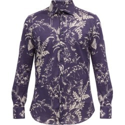 Etro - Floral-print Cotton-twill Shirt - Mens - Navy found on Bargain Bro UK from Matches UK