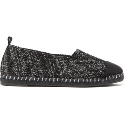 Castañer - Karl Metallic-tweed Espadrilles - Womens - Black Silver found on MODAPINS from Matches UK for USD $73.80
