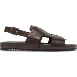Grenson - Wiley Buckled Leather Sandals - Mens - Dark Brown found on MODAPINS from MATCHESFASHION.COM - AU for USD $184.65