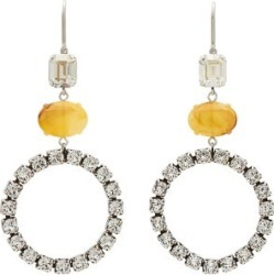 Isabel Marant - Crystal-embellished Hoop Drop Earrings - Womens - Yellow found on Bargain Bro UK from Matches UK