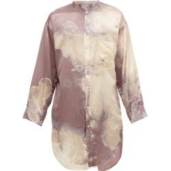Bed J.W. Ford - Tunique tie-dye en satin de soie et coton found on MODAPINS from matchesfashion.com fr for USD $520.00