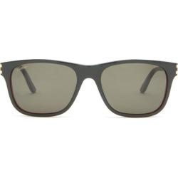 Cartier Eyewear - C Décor Square Acetate Sunglasses - Mens - Black found on MODAPINS from MATCHESFASHION.COM - AU for USD $408.41