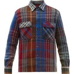 Missoni - Checked Knitted Wool-blend Overshirt - Mens - Blue Multi found on Bargain Bro UK from Matches UK