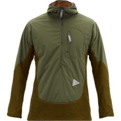 And Wander - Panelled Technical Hooded Sweater - Mens - Green found on Bargain Bro Philippines from Matches Global for $216.00
