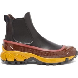 Burberry - Logo-embossed Overshoe Leather Chelsea Boots - Mens - Black Multi found on Bargain Bro from Matches UK for £593