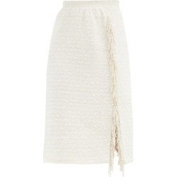 Giambattista Valli - Pearl-embellished Cotton-blend Tweed Pencil Skirt - Womens - White found on MODAPINS from Matches Global for USD $1470.00