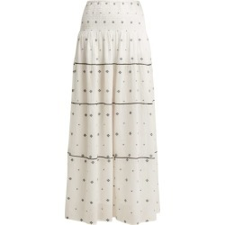 Anaak - Jaisalmer Diamond Jacquard Maxi Skirt - Womens - White Print found on MODAPINS from Matches Global for USD $395.00