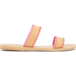 Ancient Greek Sandals - Melia Whipstitched Leather Slides - Womens - Pink Multi found on MODAPINS from Matches Global for USD $305.00