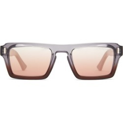 Cutler And Gross - Oversized Square Acetate Sunglasses - Mens - Clear Multi
