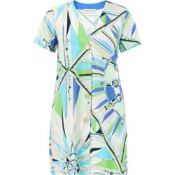 Emilio Pucci - Bes-print Cotton-blend Terry Mini Dress - Womens - Green Print found on MODAPINS from Matches Global for USD $895.00