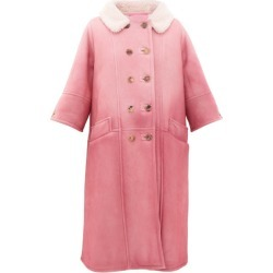 Prada - Collared Double-breasted Shearling Coat - Womens - Light Pink found on Bargain Bro UK from Matches UK