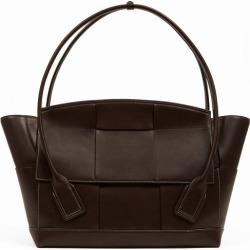 Bottega Veneta - The Arco Large Intrecciato Leather Bag - Womens - Brown found on Bargain Bro from MATCHESFASHION.COM - AU for USD $4,120.38