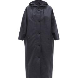 Prada - Hooded Moiré-print Nylon Coat - Womens - Navy found on Bargain Bro UK from Matches UK