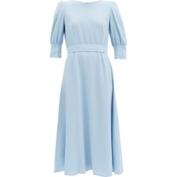 Goat - Kane Bishop-sleeve Wool-crepe Midi Dress - Womens - Light Blue found on MODAPINS from MATCHESFASHION.COM - AU for USD $398.41