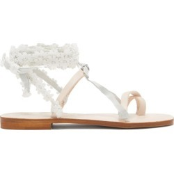 Álvaro - X Thierry Colson Tanna Wraparound Leather Sandals - Womens - White found on MODAPINS from Matches UK for USD $450.06