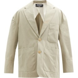 Jacquemus - Santon Patch-pocket Cotton Suit Jacket - Mens - Green found on Bargain Bro UK from Matches UK
