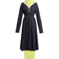 Vetements - Hooded Contrast-panel Emoji-print Dress - Womens - Navy Multi found on MODAPINS from Matches Global for USD $654.00