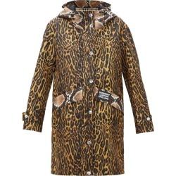 Burberry - Parka en nylon technique imprimé léopard à capuche