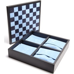 Grosvenor leather triple game set
