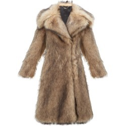 Paco Rabanne - Oversized Faux-fur Coat - Womens - Brown
