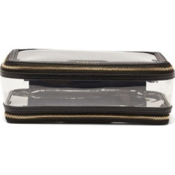 Anya Hindmarch - In-flight Leather And Tpu Wash Bag - Womens - Black found on MODAPINS from Matches UK for USD $293.52