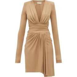 Alexandre Vauthier - Draped Plunge-neckline Crepe Dress - Womens - Beige found on Bargain Bro UK from Matches UK