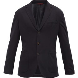 Brunello Cucinelli - Single-breasted Wool-piqué Blazer - Mens - Navy found on MODAPINS from Matches Global for USD $2495.00