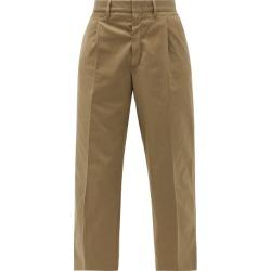 Myar - Pantalon raccourci taille haute en coton à pinces found on MODAPINS from matchesfashion.com fr for USD $94.90