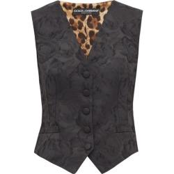 Dolce & Gabbana - Gilet en jacquard et imprimé léopard