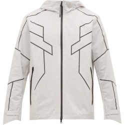 Blackbarrett By Neil Barrett - Geometric-print Reflective Zip-through Jacket - Mens - Silver found on Bargain Bro India from MATCHESFASHION.COM - AU for $187.41