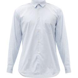 Comme Des Garçons Shirt - Zipped-seam Striped Cotton Shirt - Mens - Blue found on MODAPINS from Matches UK for USD $565.43
