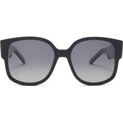 Dior - Wildior Round Acetate Sunglasses - Womens - Black found on Bargain Bro UK from Matches UK