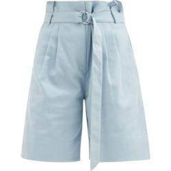 Tibi - Short ample en coutil de coton à ceinture Stella