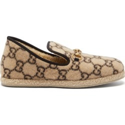 Gucci - Fria Gg-print Felted-wool Loafers - Mens - Beige found on Bargain Bro UK from Matches UK