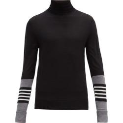 Neil Barrett - Striped-cuff Wool-blend Sweater - Mens - Black Grey found on Bargain Bro UK from Matches UK