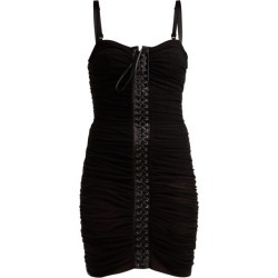 Dolce & Gabbana - Ruched Tulle Lace-up Corset Dress - Womens - Black found on Bargain Bro India from MATCHESFASHION.COM - AU for $731.16