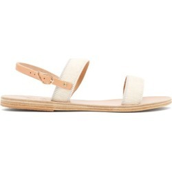 Ancient Greek Sandals - Clio Calf Hair Sandals - Womens - White